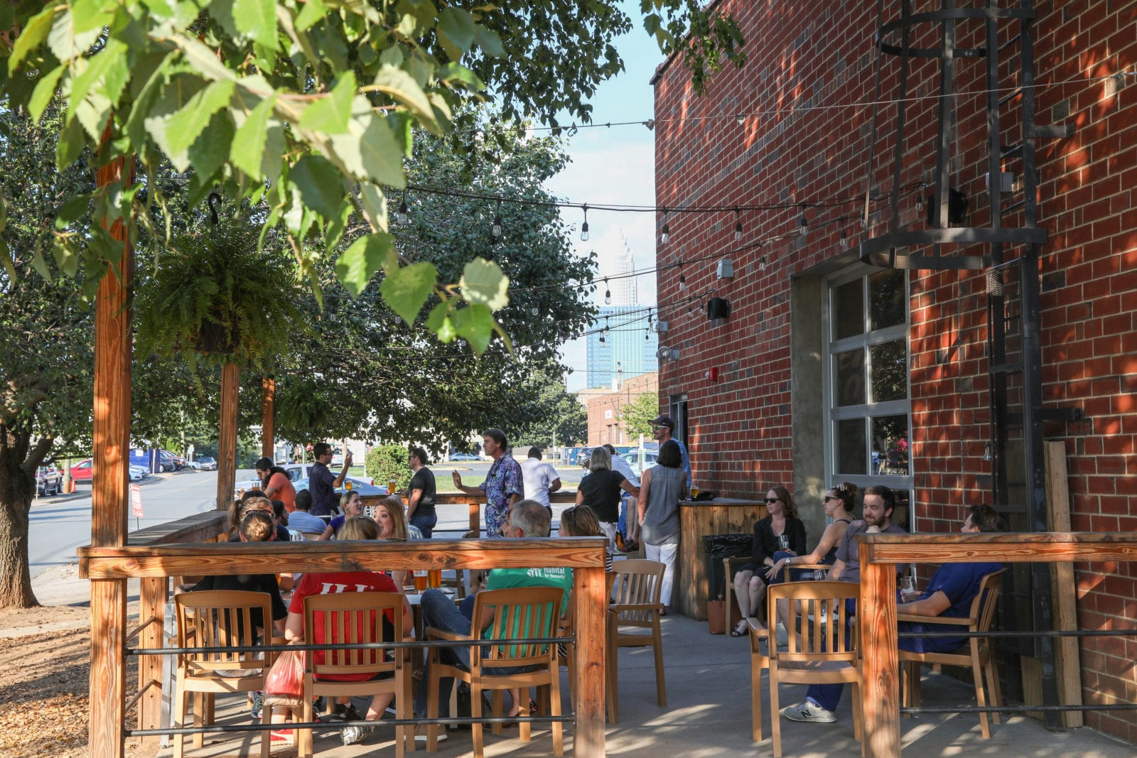 outdoor brewery patio