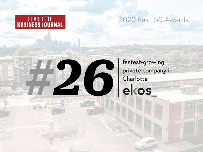 ekos ranks on charlotte business journals fast 50 list