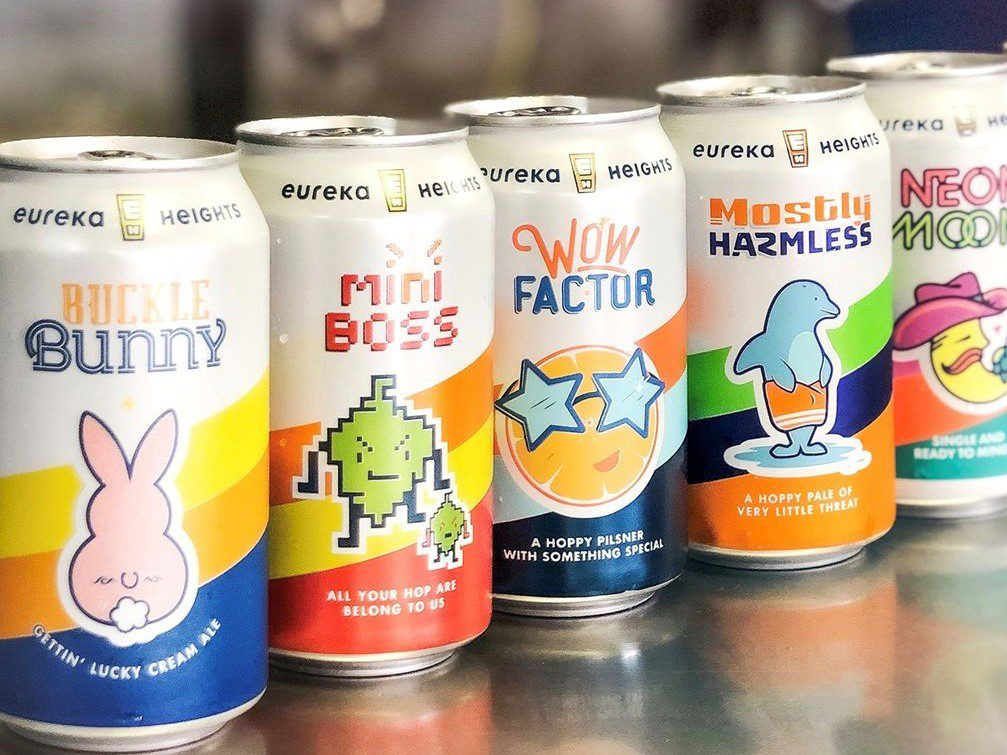 picture of eureka heights brewing company cans of beer