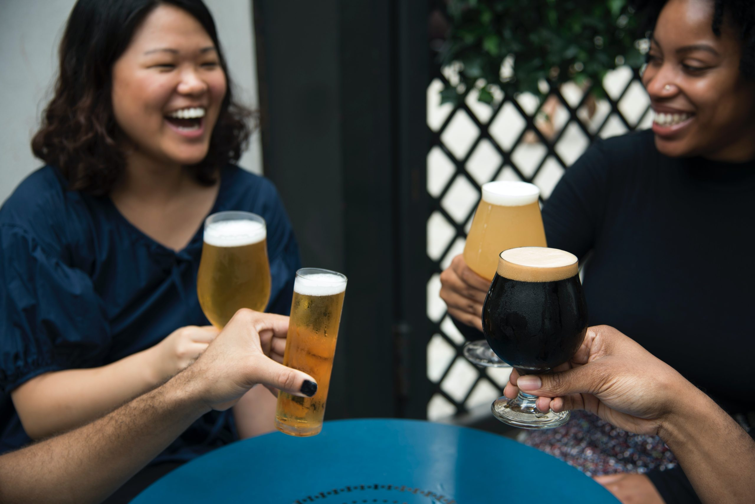 an image of drinkers celebrating diversity